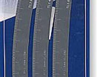 Набор калибровочных линеек для проклепки RIVET GAUGE 2 ( FOR CURVED LINE ) TL14 71044 (HASEGAWA)