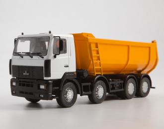 МАЗ-6516 самосвал 8x4, серый / оранжевый