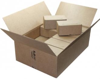 Коробка пластиковых боксов для моделей 155х90х70мм (20шт.)