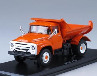 ЗИЛ ММЗ-555 самосвал ранняя облицовка радиатора Автоэкспорт (1974), оранжевый