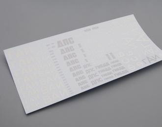 Набор декалей Дорожно-патрульная служба №3 (170х80), серый / белый