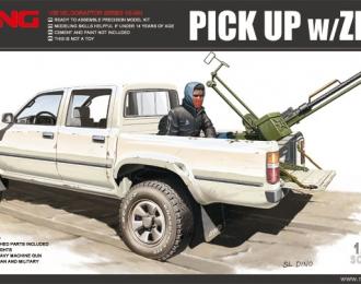 Сборная модель Автомобиль Toyota Hilux Pick Up с установленной в кузове ЗПУ-1