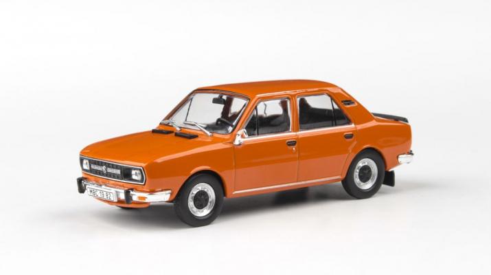 Škoda 120L 1982 - Oranžová Brilantní - Abrex 1:43