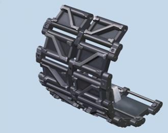 Сборная модель Chinese ZTZ-99 Steel Type Workable Track Link Set