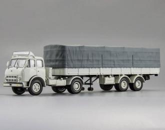 МАЗ 504В с полуприцепом 5205А SovTransavto, белый