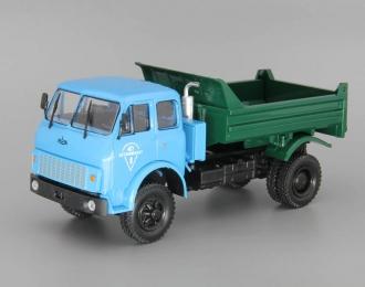 МАЗ-509Б самосвал (1977), зеленый / синий
