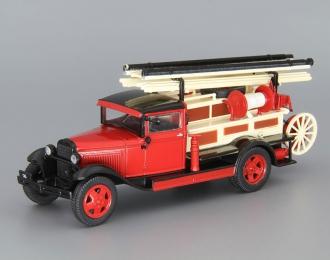 Горький АА (ПМГ-1 на базе Полуторки), Автомобиль на службе 52, красный