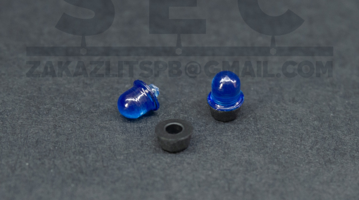 Проблесковый маяк LBS-5 «Elektra» (синий), комплект 2 шт