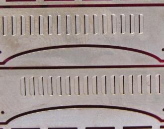 Фототравление Комплект боковин капота КрАЗ с прорезями вентиляции (ранняя кабина) для АИСТ/SSM/AVD