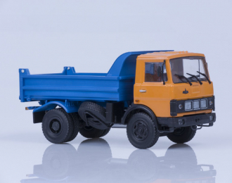 МАЗ 5551 самосвал ранняя кабина (1988), оранжево-синий
