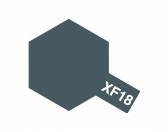 XF-18 Medium Blue (краска эмалевая, средне-синий матовый), 10мл.