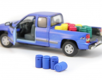 Набор пластиковых евробочек (50 литров) 4 шт, синий