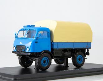 Tatra-805 бортовой с тентом, голубой