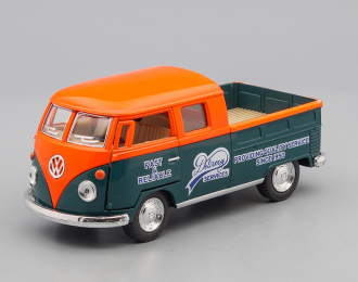 VOLKSWAGEN Bus Double Cab Pickup Delivery Services (1963), orange / green
