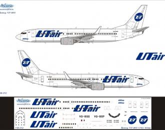 Декаль на самолет боенг 737-800 (ютайр)