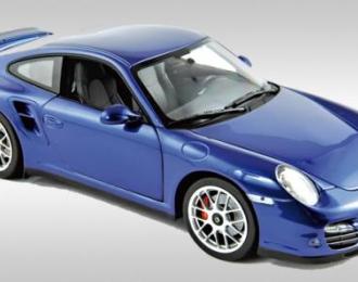 PORSCHE 911 Turbo 2010, aqua blue