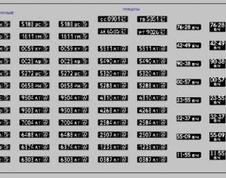 Набор декалей Номерные знаки военные (200х70)