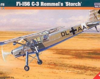 """Сборная модель Самолет Fi-156 C-3 Rommels """"Storch"""""""