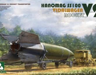 Сборная модель Немецкая ракета V-2 на транспортере с тягачом Hanomag SS100