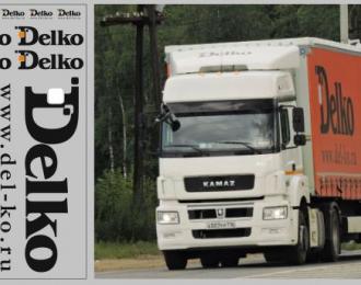 Набор декалей Транспортная компания Delko (вариант 1) (100х140)