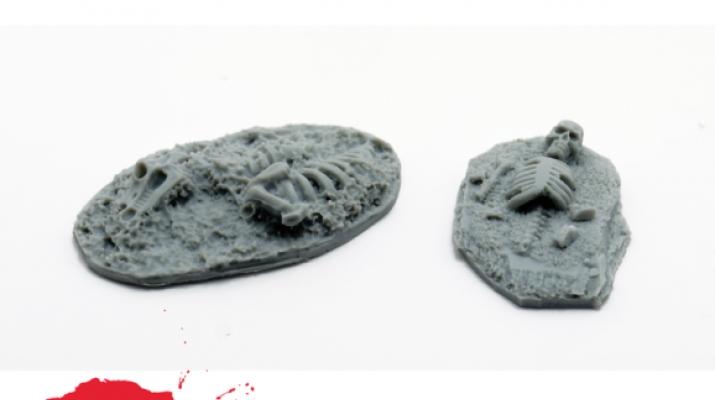 Подставки для фигур (скелеты, 2 шт.)