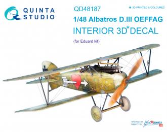 3D Декаль интерьера кабины Albatros D.III OEFFAG (для модели Eduard)