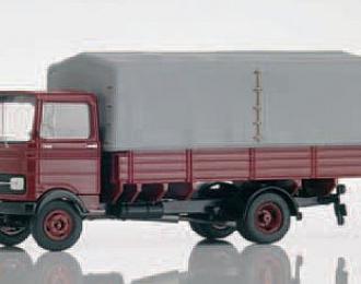 MERCEDES-BENZ LP608 pick-up truck, dark red