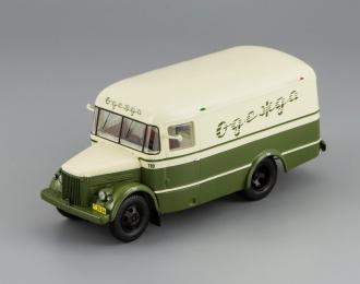 Павловский автобус 661 Фургон для перевозки одежды (1956), бежевый с зеленым