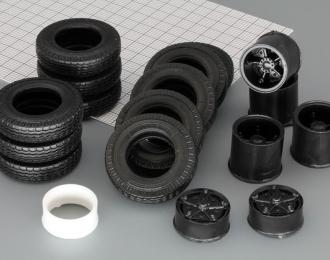 Резина, диски для КАМАЗ 5320 (волна), компл. из 11 колес