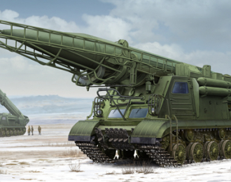 Сборная модель пусковая установка 2П19 с баллистической ракетой 8К14