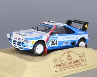 PEUGEOT 405 Turbo 16 #204 Ari Vatanen - Bruno Berglund (1989), blue / white