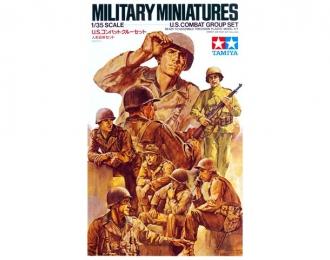 Сборная модель U.S. Combat Group Американская штурмовая группа на отдыхе, восемь фигур.