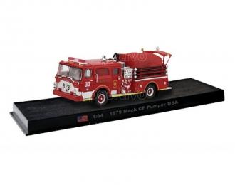 Mack CF Pumper USA die-cast Fire Truck, Kolekcia Strażackie Giganty 20