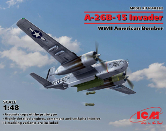 Сборная модель A-26B-15 Invader Американский бомбардировщик 2 МВ