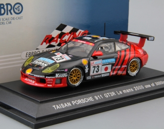 PORSCHE 911 GT3R Le Mans #73 (2000), black / red