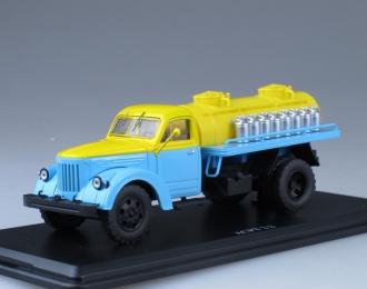 АЦПТ-2.2 Молоко (на шасси УралЗИС-355М), голубой / желтый