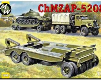 Сборная модель Прицеп тяжеловоз ЧМЗАП-5208