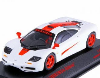 McLAREN F1 белый с красным, специальное издание для Hekorsa, white