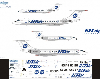 Декаль на самолет тушка-134А-3 (ЮутАйр)