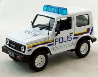 SUZUKI Samurai Полиция Малайзии, Полицейские Машины Мира 33, белый