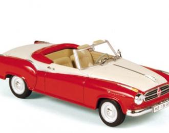 BORGWARD Isabella cabriolet (1958), rouge et blanc