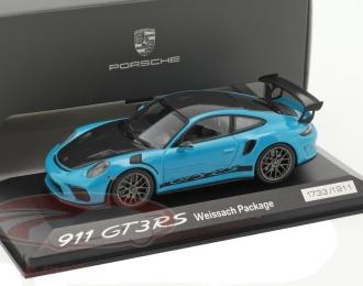 PORSCHE 911 (991 II) GT3 RS Weissach Package, miami blue / black