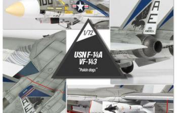Сборная модель Самолёт U.S. NAVY F-14A