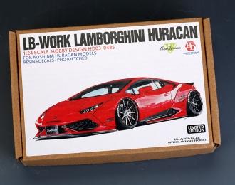 Конверсионный набор LB-Works Lamborghini Huracan для моделей Aoshima Huracan Models (Resin+PE+Decals)