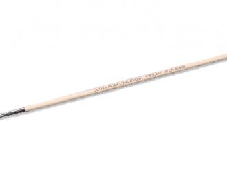Кисточка плоская ширина 4мм (конский волос, ручка дерево)