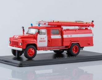 АЦ-30 (53А)-106А, ПЧ-10 Спасское, красный с белыми полосами