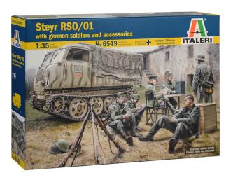 Сборная модель Тягач STEYR RSO/01 with GERMAN SOLDIERS