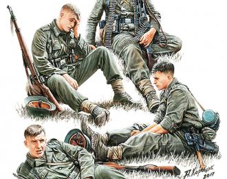 Сборная модель German Infantry At Rest