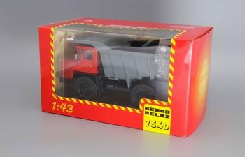 БелАЗ-7540 самосвал-углевоз, красный / серый
