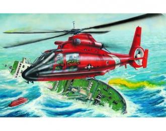 Сборная модель Американский спасательный вертолет US HH-65A Dolphin